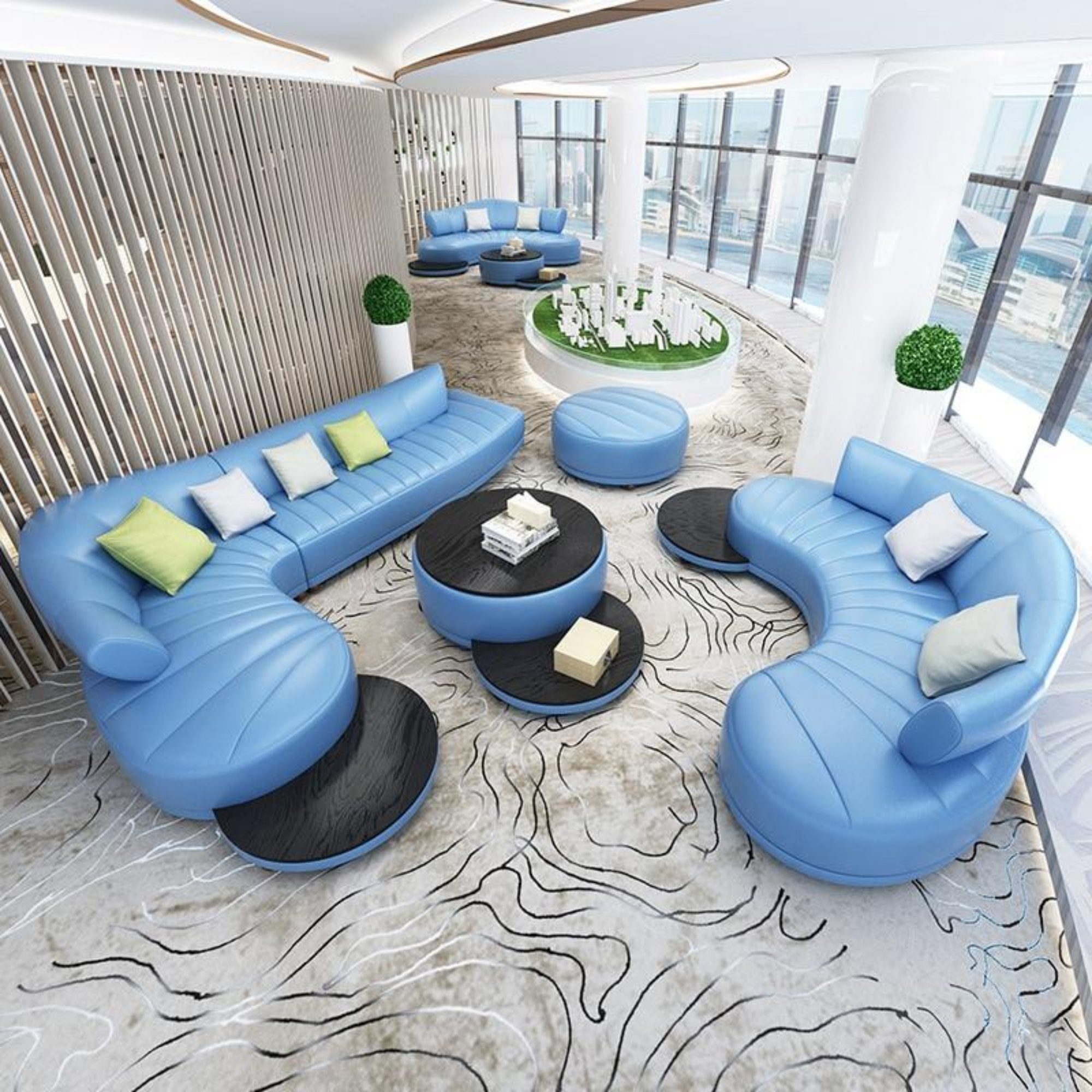unique modern living room furniture | Unique and Luxury Shaped Sofa Set Furniture – My Aashis