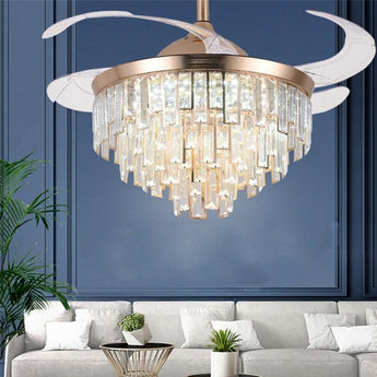 Luxurious Crystal Led Ceiling Fan Lights - My Aashis