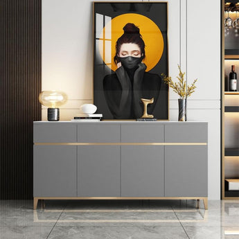Modern Light Luxurious Rock Plate Sideboard Cabinet - My Aashis