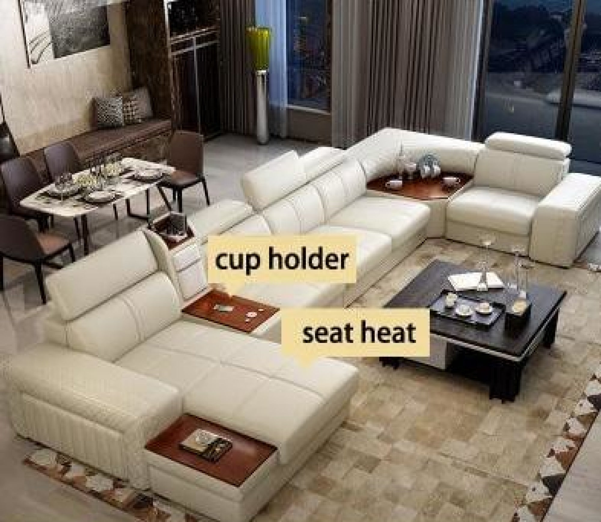 Modern Leather Sectional Sofa For Living Room Sofa