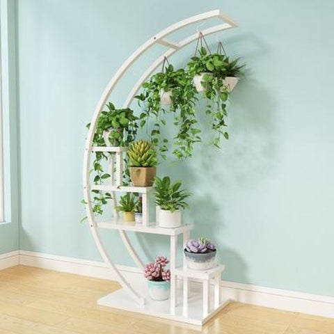 Half Moon Flower Pot Stand For Home Decoration - My Aashis