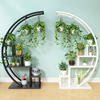 Half Moon Flower Pot Stand For Home Decoration