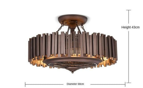 Luxurious Iron Led Ceiling Fan With Remote Control Ventilator Lamp - My Aashis