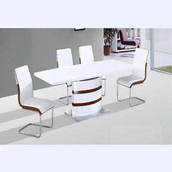 Luxury White High Gloss Expandable Extensional Dining Table