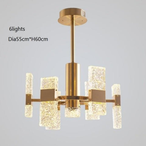 Leisure Contemporary LED Crystal Chandelier Decorative Light - My Aashis