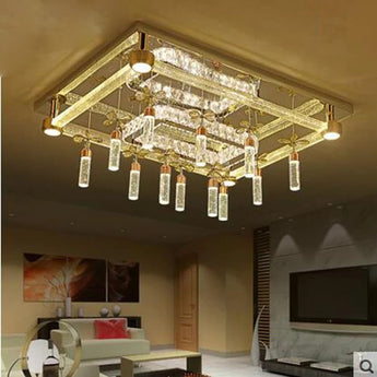 Modern Designed Crystal LED Ceiling Lamp with Glass and Metal Body - My Aashis