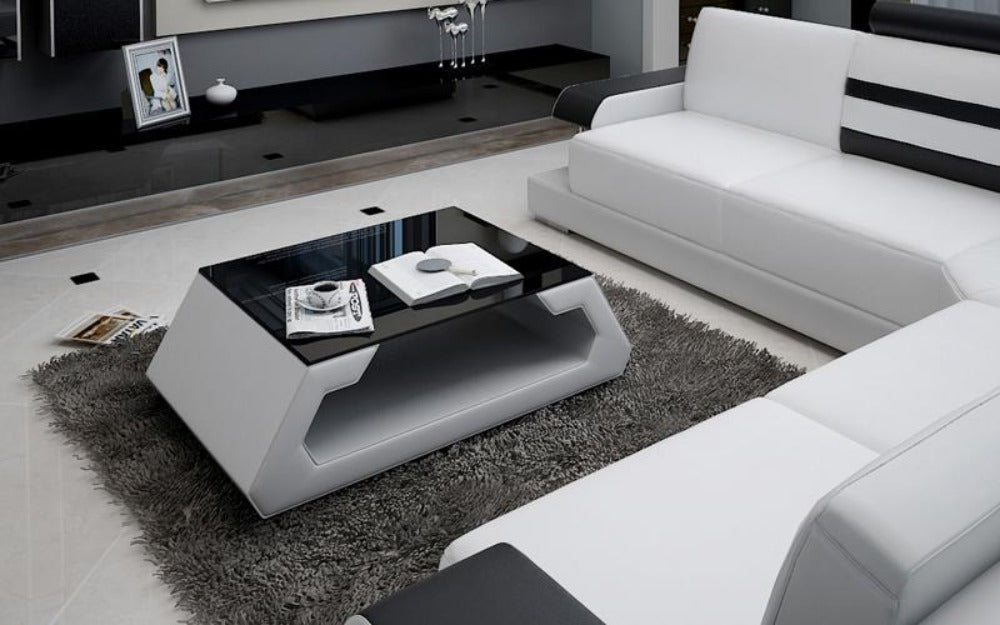 Silviano Modern L-Shaped Leather Sofa