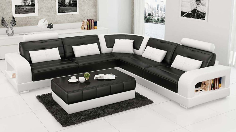 Luxury Modern Design Leather Corner Sofa Salerno Xl