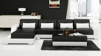 Luxury Modern Living room sofa with two contrasting Colours