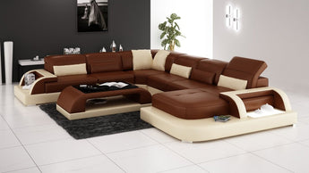 Luxury Modern Leather Lounge 5 6 7 Seat Seater