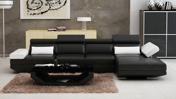 Luxury Modern Gwen - 3SC - Leather Sofa Lounge Set