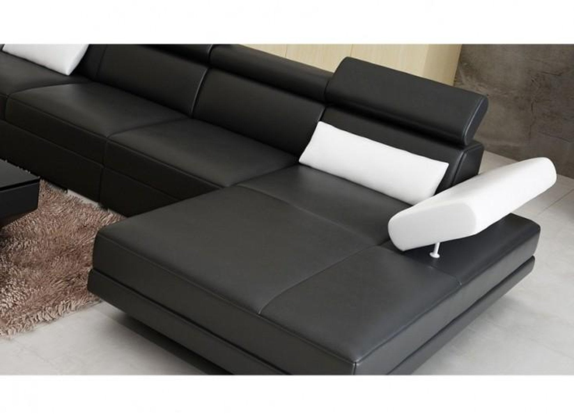 Luxury Modern Gwen - 3SC - Leather Sofa Lounge Set – My Aashis