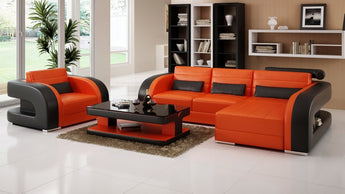 Luxury Modern New Style Leather Sofa Set