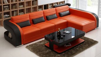 Luxury Modern Umbra - 3sC - Leather Sofa Lounge Set