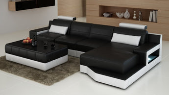 Luxury Modern Ferrara Living room furniture Sofa L shape sectional sofa