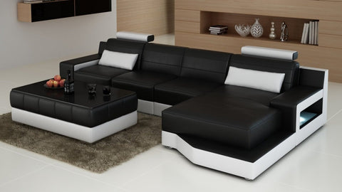 Luxury Contemporary Modern Ferrara Living room furniture Sofa L shape sectional sofa - My Aashis