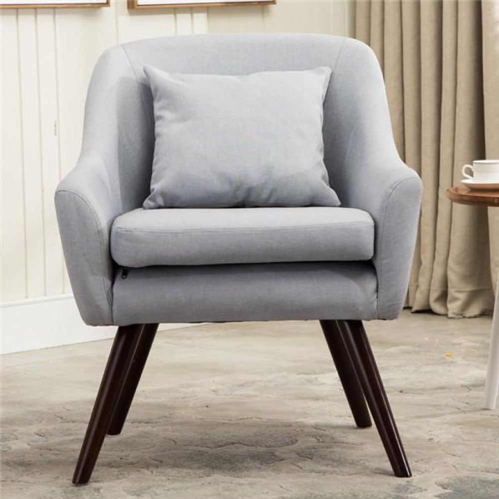 Linen Cozy Fabric Accent Chair My Aashis