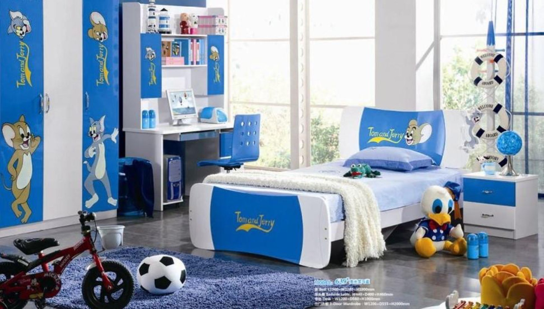 Kids Room Furniture Set Contemporary Design Mickey Mouse Theme