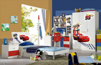Kids Room Furniture Set Contemporary Design - Disney Lightening McQueen Theme - My Aashis