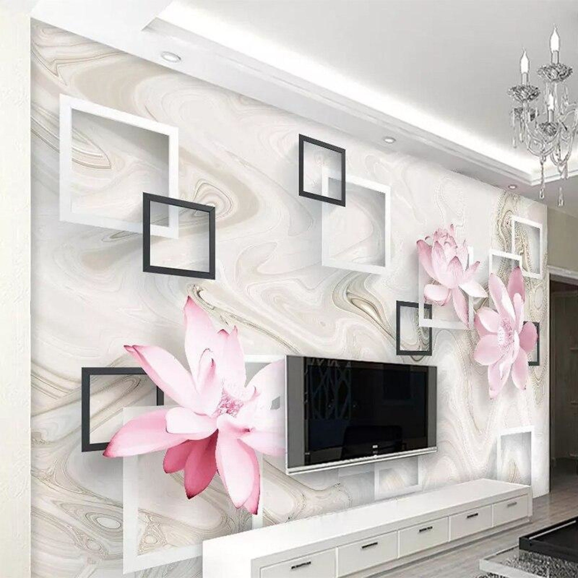 Beautiful 3d Pink Flower Light Shade Wallpaper My Aashis