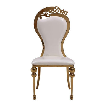Gorgeous Golden Steel Dining Chair Set - My Aashis