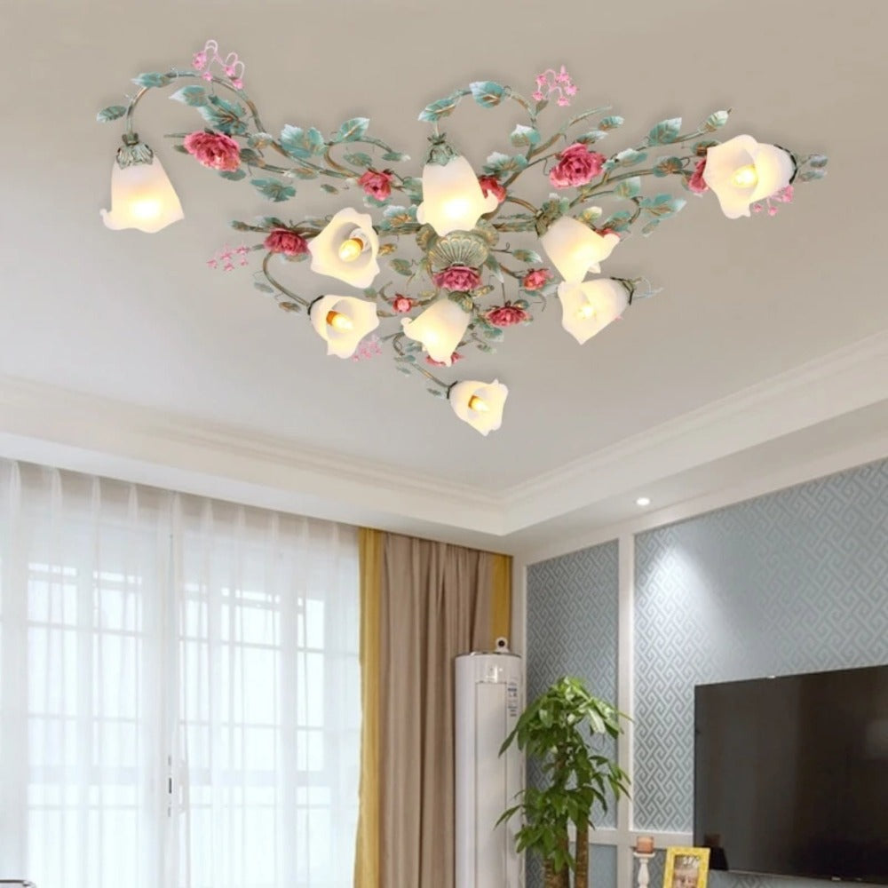 Home Garden Chandeliers Ceiling Fixtures Romantic Modern Led Dandelion Ceiling Lamp Pendant Lighting Bedroom Living Room