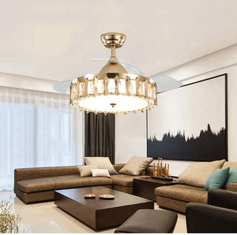 Stylish Crystal Ceiling Fan with Lights - My Aashis