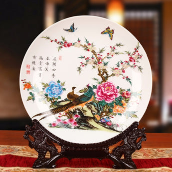 Ceramic Ornamental Plate  For  Wall Decoration