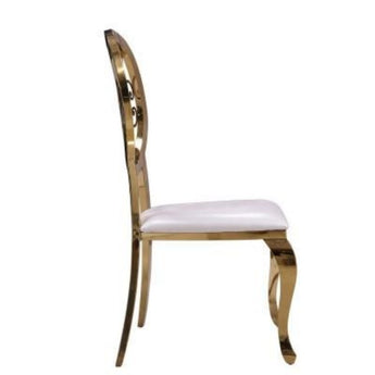 Contemporary Golden Steel Dining Chair Set - My Aashis