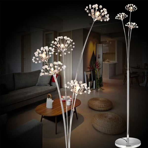 Modern Crystal LED Floor Lamp
