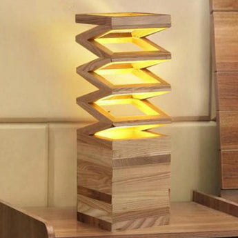 Modern Wooden Table Lamp - My Aashis