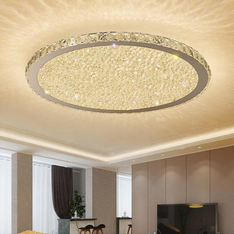 Creative Golden Round Crystal Chandeliers - My Aashis