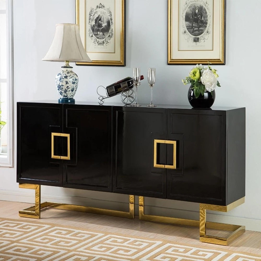 Traditional High Glossy Buffet Cabinet My Aashis