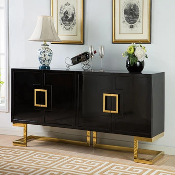 Traditional High Glossy Buffet  Cabinet - My Aashis