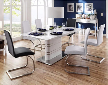 Modern Kitchen And Dining Room Extendable Table For Small Spaces