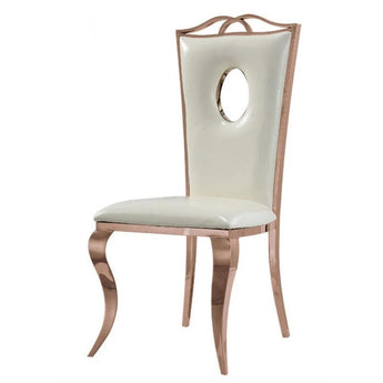 Gorgeous Rose Gold Steel Dining Chair Set - My Aashis