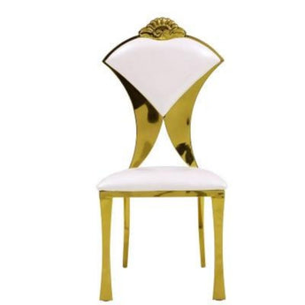 Bright Golden Steel Dining Chair Set - My Aashis
