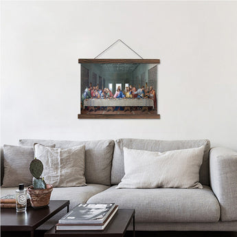 Real Color Scroll Canvas Painting