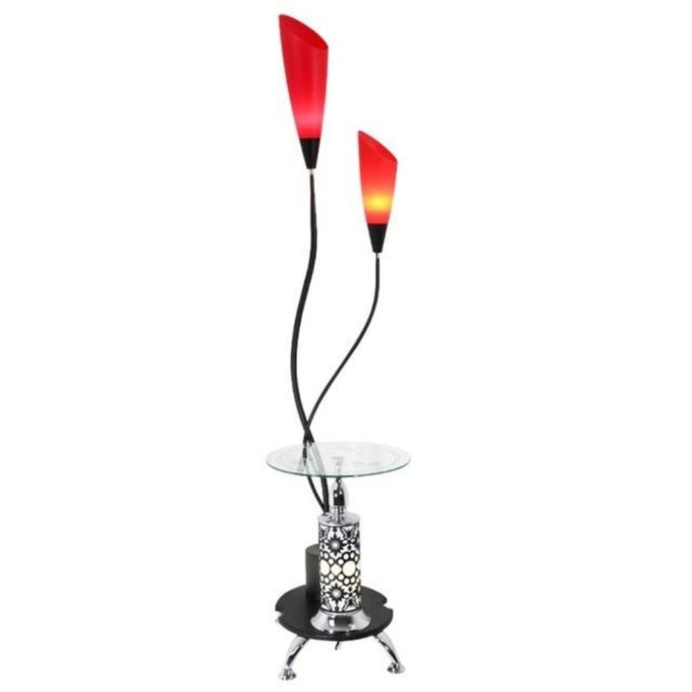 1 Led Floor Lamp 2 Head Tall Pole Standing Reading Lamp For