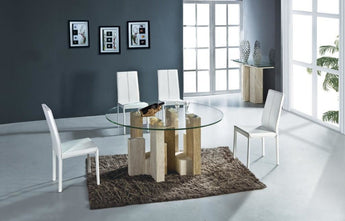 Stylish & Stable  Round  Marble Dining Table