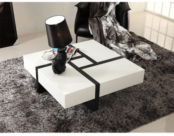 Stylish Storage Square Panel CoffeeTable