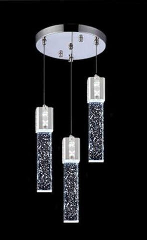3 Head LED Lights Pendant Modern Bubble Crystal Lighting Chandeliers