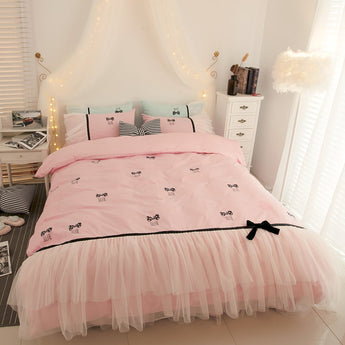 High Quality   Princess Lace Edge Bedding Sets - My Aashis