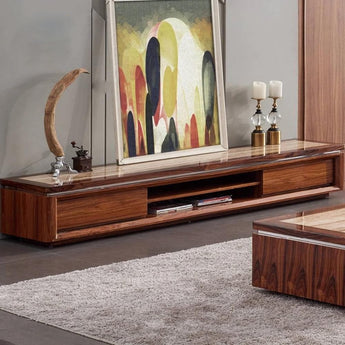 Contemporary Designed Wooden Coffee Table TV Stand - My Aashis