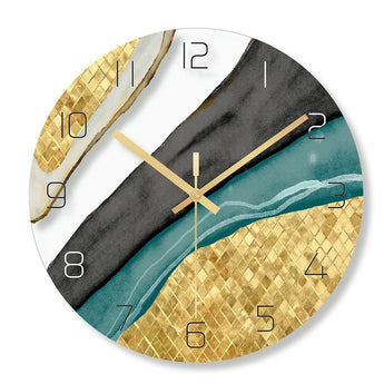 Marble Painting Design Round Wall Clock - My Aashis
