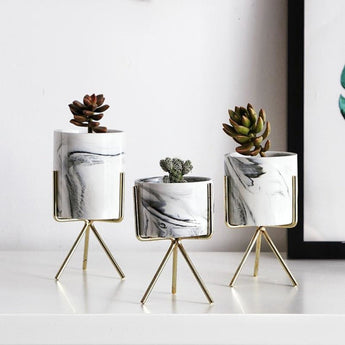 Creative Iron Tabletop Flower Pot For Home Decor - My Aashis