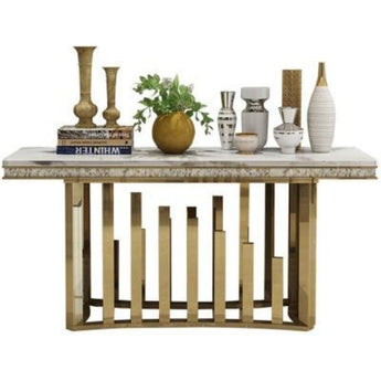 Elegant Style Marble Top Multi Desk Console Table - My Aashis