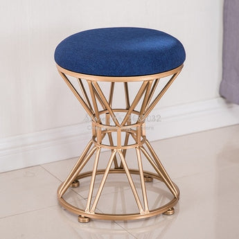 Antique Metal Base Round Stools For Home Furniture - My Aashis