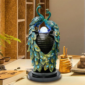 Attractive Peacock Water Fountain For Decor