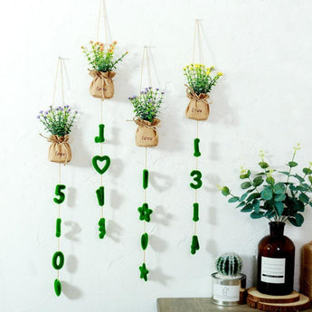Handmade Artificial Flowers Wall Hanging & Wreaths - My Aashis